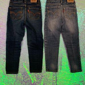 Levi's Little Girls Jeans Sz 4 - 2 Pairs